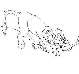Lion king Base Teenage Lion by KittengLovergin