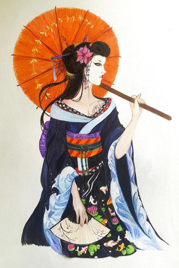 Geisha by Polkadotdiva