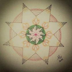 Mandala Star by AnnyQuillin