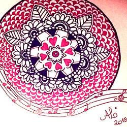 Pink Mandala by AnnyQuillin