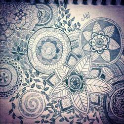 Mandala Garden by AnnyQuillin