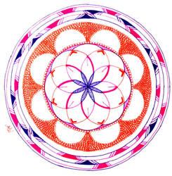 Mandala fluorescent by AnnyQuillin