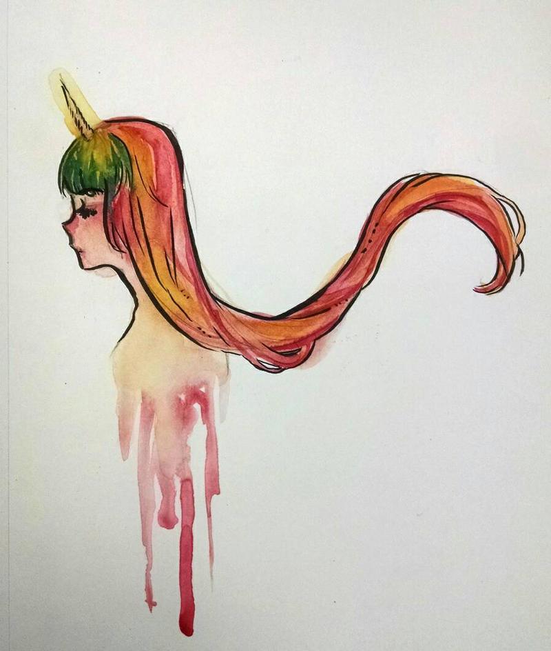 Unicorn Doodle by KatyaHam