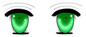 Green Anime Eyes