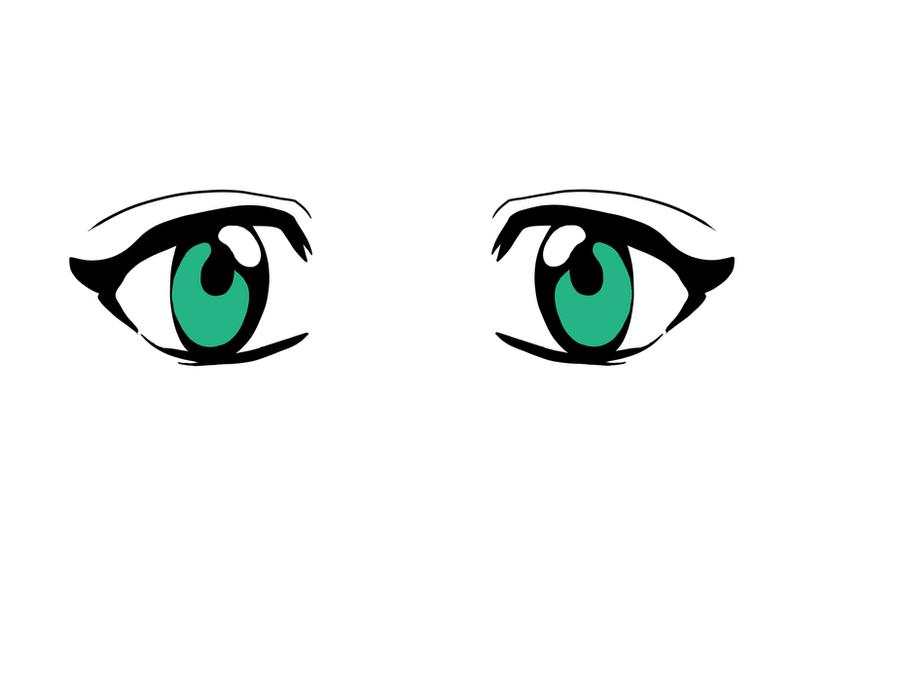 Pretty Green Anime Eyes By PrincessPyrefly