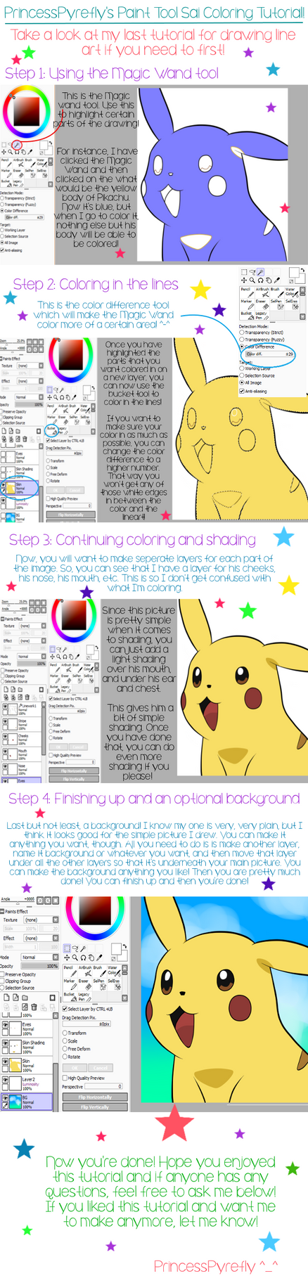 Paint Tool Sai Coloring Tutorial by PrincessPyrefly