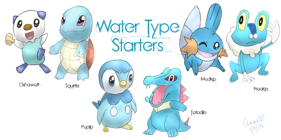 Water type pokemon names images pokemon images for All types of water