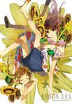 Sunflower and girls