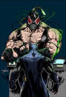 Batman Vs Bane by beegearama