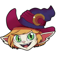 Tristana bewitched sticker