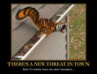 tiger squirrel demotivational by Weirddudeguy