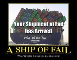Ship demotivational poster