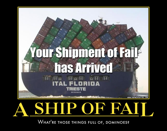 Ship demotivational poster by Weirddudeguy