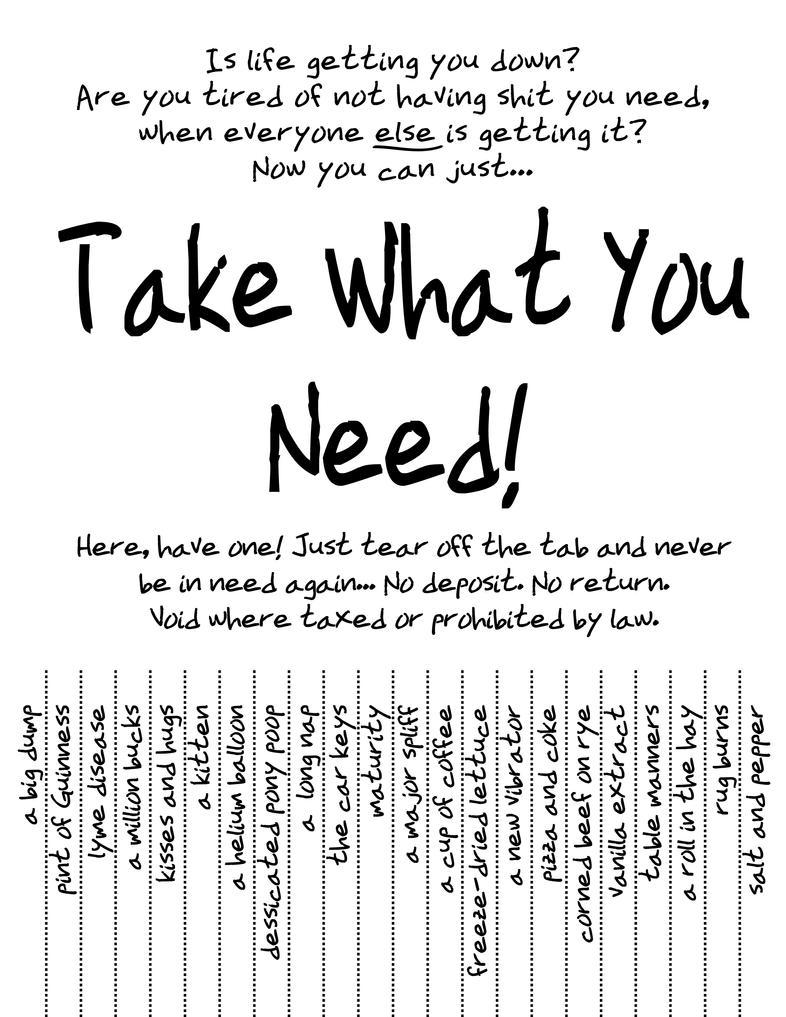 Take What You Need By Vanilla Vanilla On Deviantart