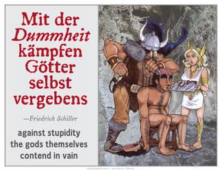 Against Stupidity Poster 2 by vanilla-vanilla