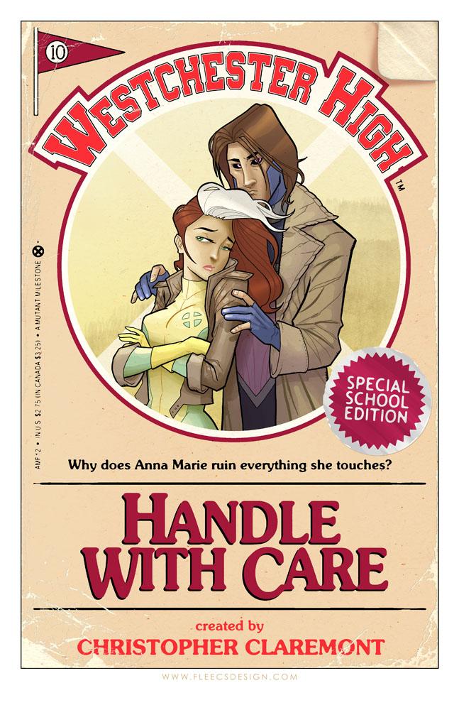 Rogue and Gambit YA Book Cover Print by TonyFleecs