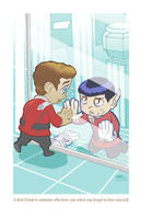 Adorable Tragedies 4- Kirk and Spock by TonyFleecs