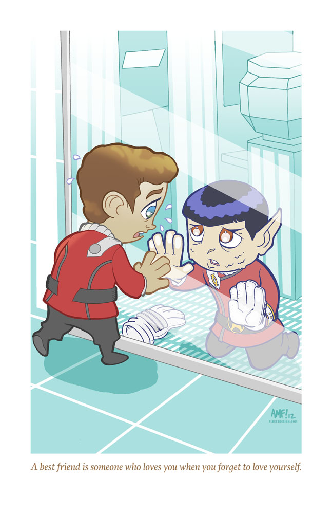 Adorable Tragedies 4-Kirk and Spock by Tony Fleecs