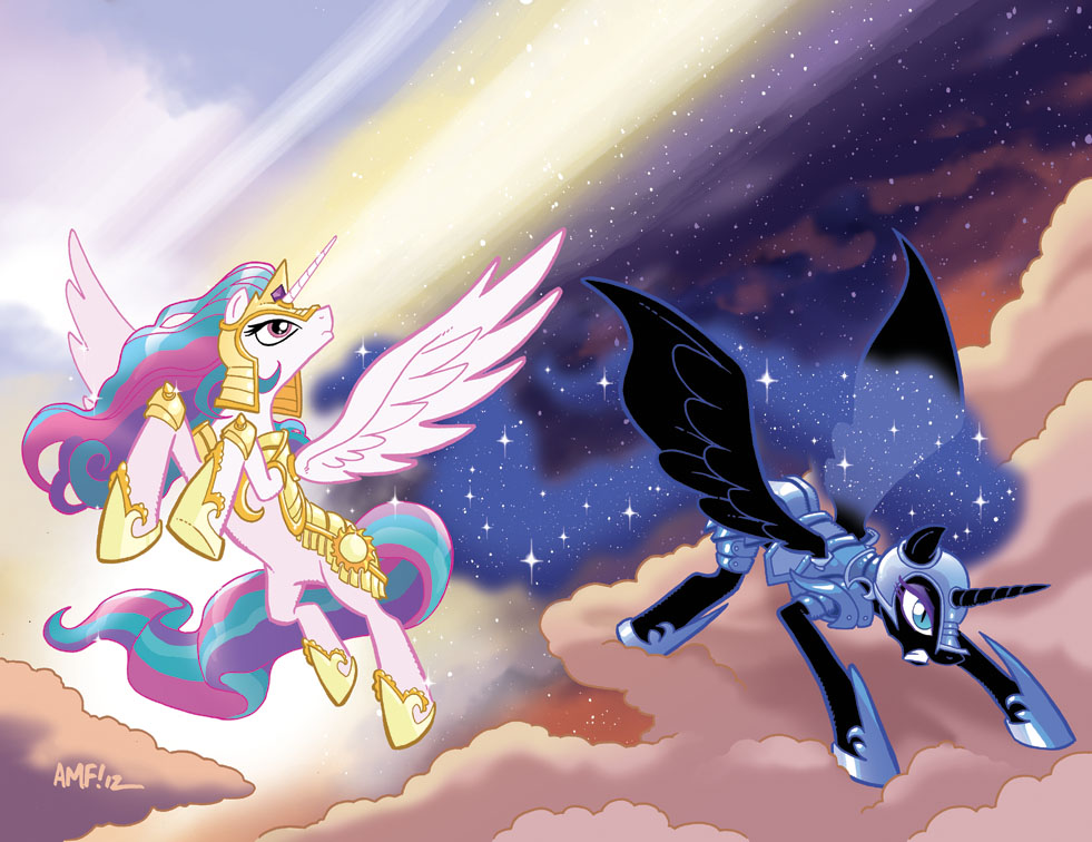 My Little Pony #4 Larry's/Jetpack Variants by TonyFleecs