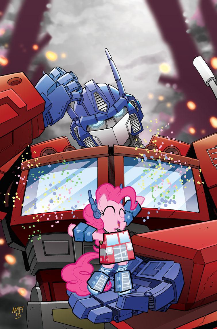 My Little Pony Micro #5 BotCon Cover by TonyFleecs