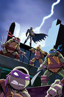 Batman/TMNT Adventures #1 Variant Cover by TonyFleecs