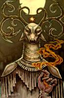 solstice elk shaman by cannibol