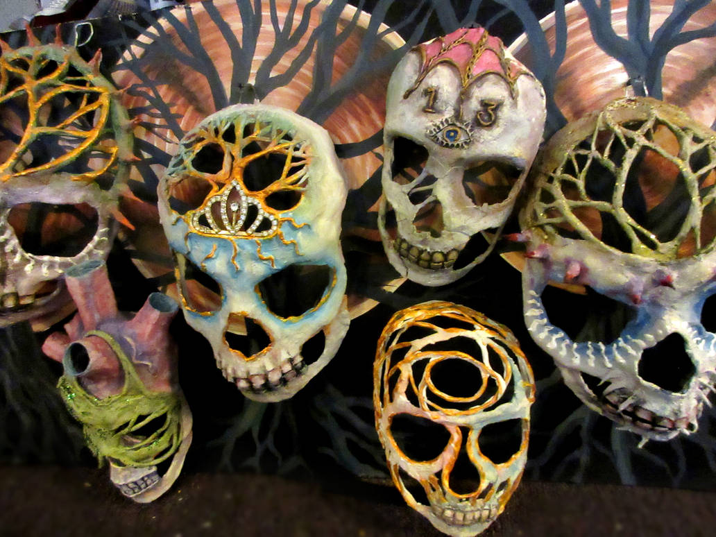 aokigahara masks by cannibol