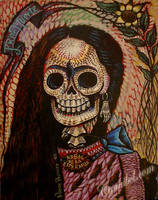 muerte frida by cannibol