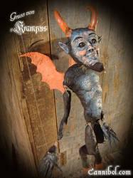 krampus marionette by cannibol