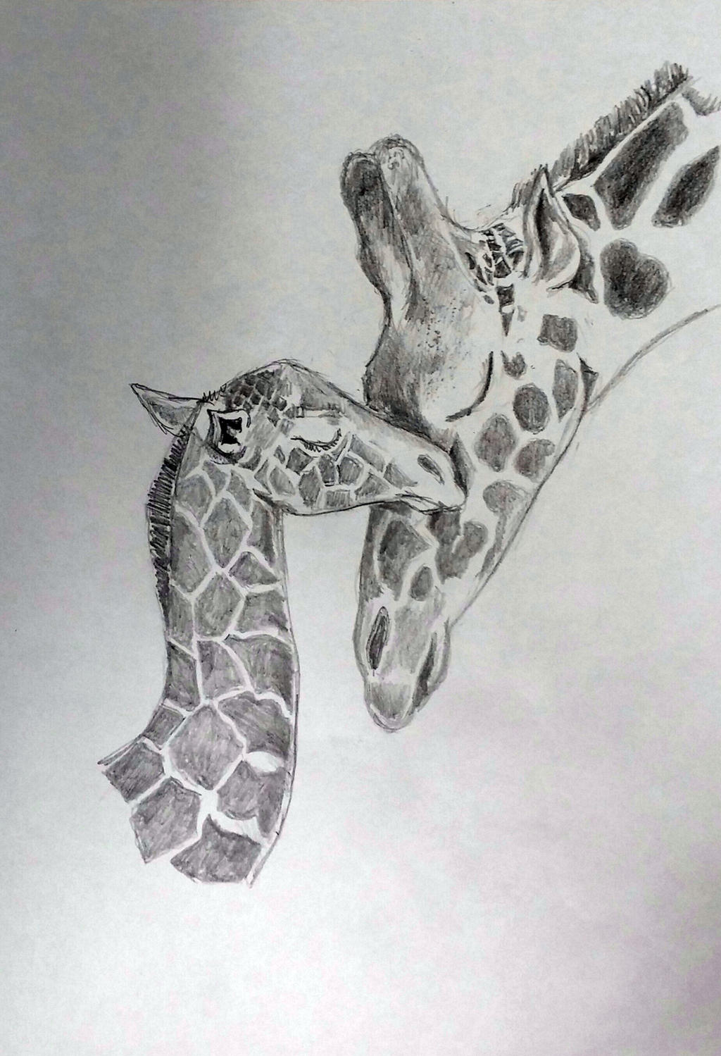 Uncategorized Giraffe Drawings giraffe baby and mom drawing 10 15 14 ver 2 by delenntoo on deviantart delenntoo