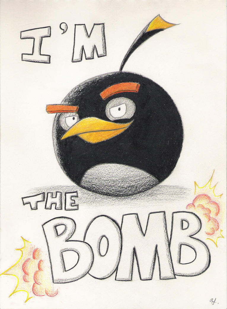 angry birds i 39 m the bomb by shade2903 on deviantart. Black Bedroom Furniture Sets. Home Design Ideas