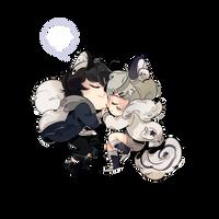 Tohru and Kyo by Lunarmole