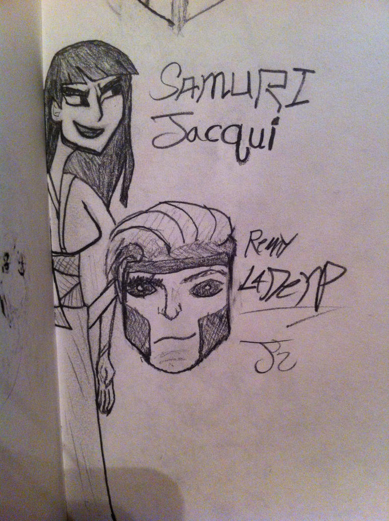 Samuri Jacqui and Remy LaDerp by ComicBookGoth