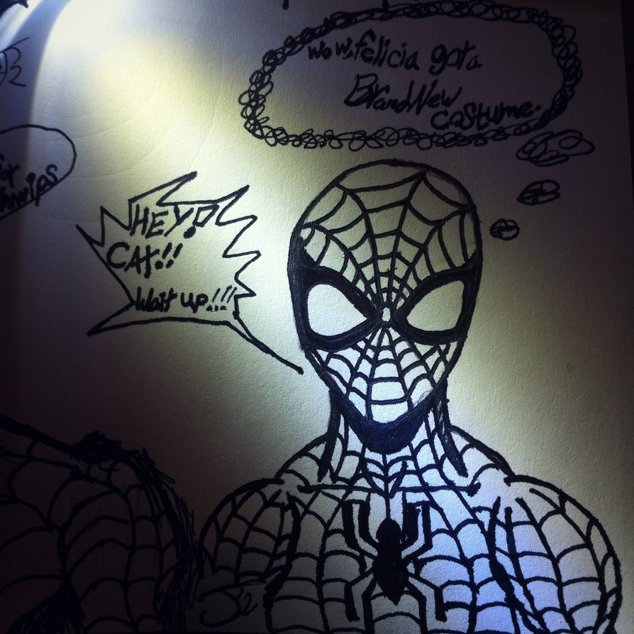 One track Webhead by ComicBookGoth