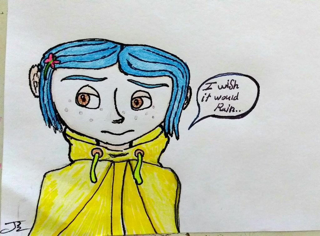 Coraline doodle by ComicBookGoth