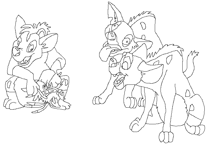 shenzi coloring pages - photo#17