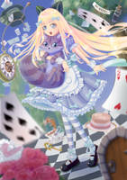 Alice and Cheshire Cat by Higeneko9