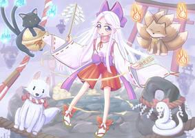 Little Shrine Maiden by Higeneko9
