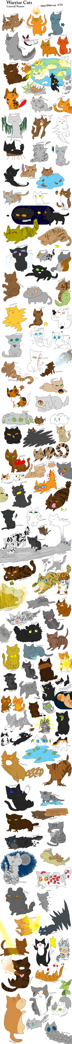 Warrior Cats (literal names) by DrawMachine030