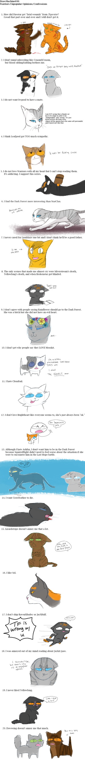 Warriors Unpopular Opinions/ Confessions by DrawMachine030