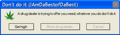 my windows Error Message by IAmDaBestofDaBest