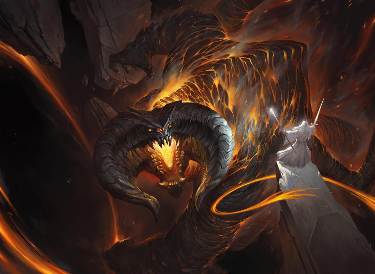 1603_Gandalf vs Balrog by alswns3421 on DeviantArt Gandalf Balrog Xp