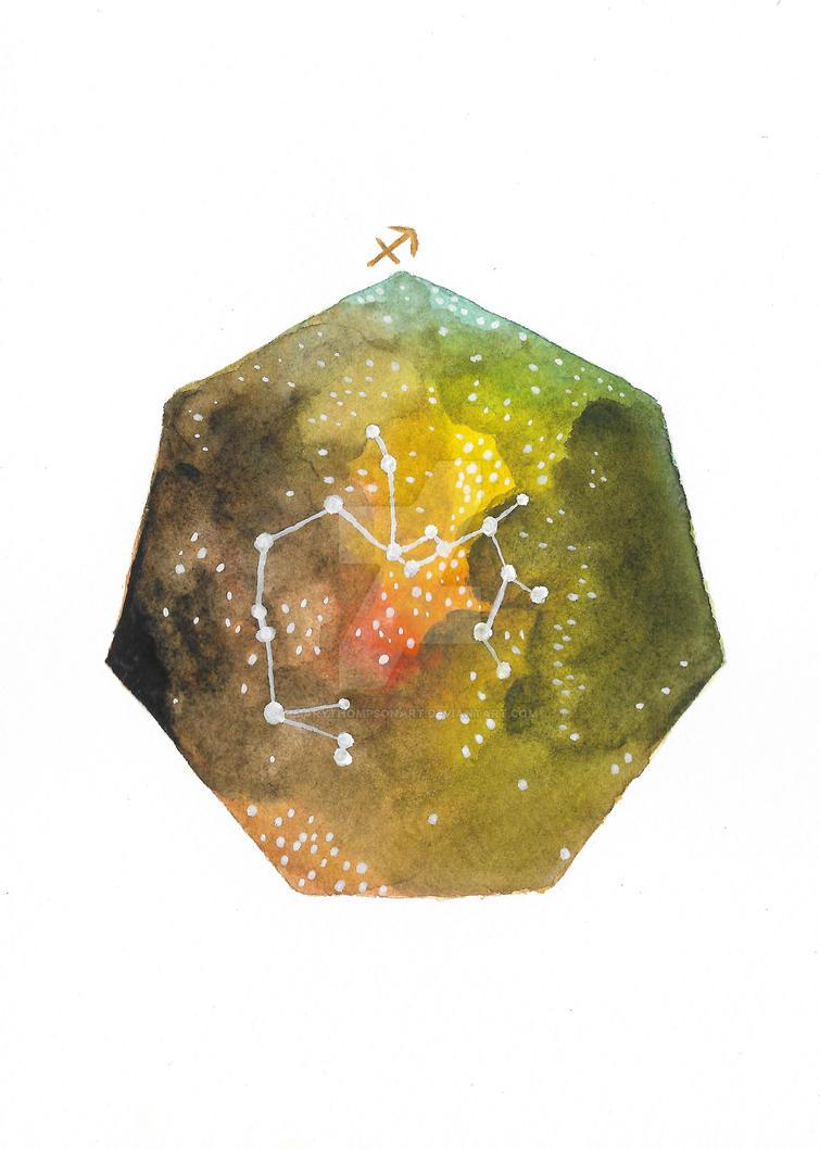 Sagittarius by MaryThompsonArt