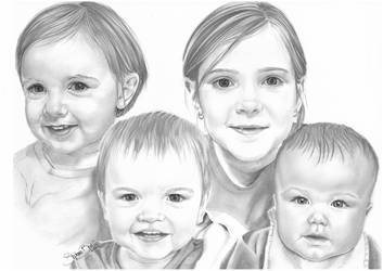 Four faces - Christmas Gift by FrenchSteph