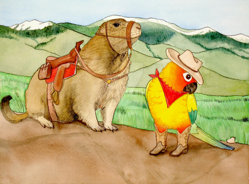 Parrot Cowgirl by greencheek