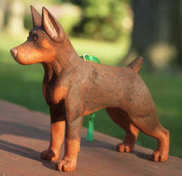 Doberman Carving by greencheek