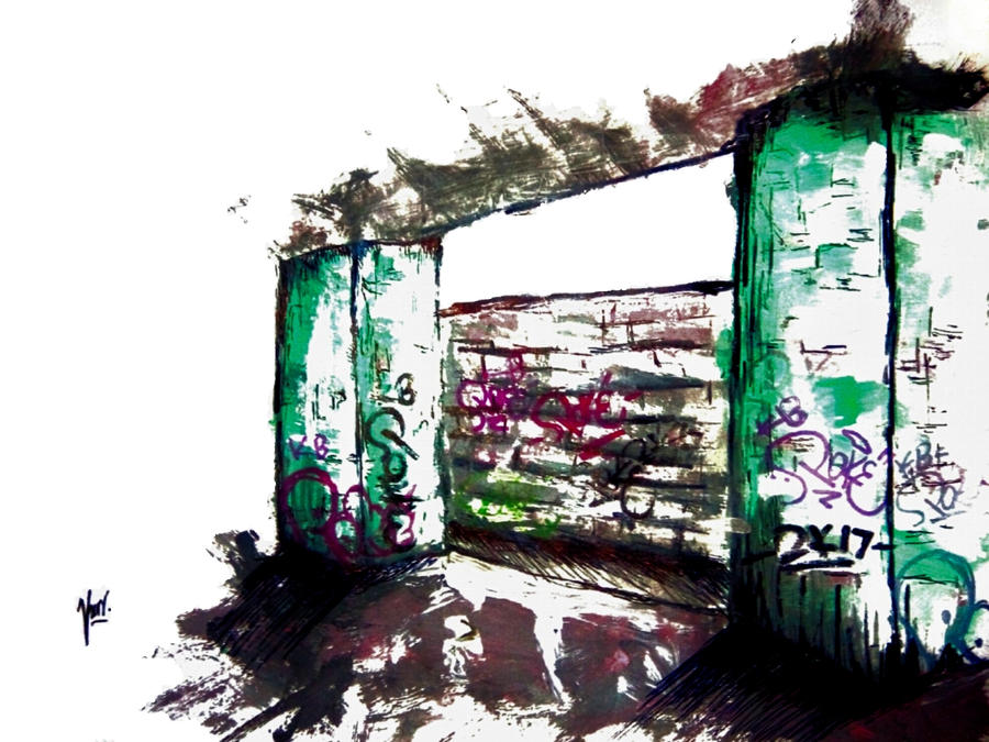 Graffiti scenery by Creation0901