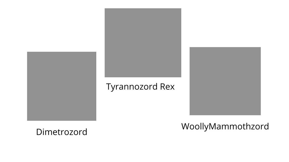 My Phanerozoic Zords blank meme template