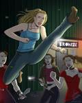 Buffy Fighting Vampires