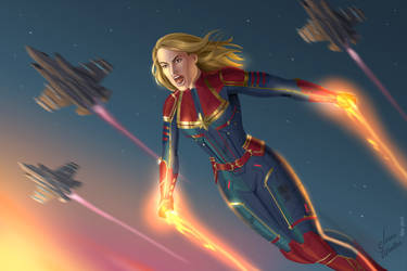 Captain Marvel by JericaWinters
